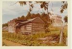 Powhatan courthouse and log building