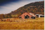 Hipped roof red barn