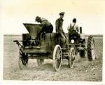 Seeding rice near lonoke