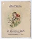 Programme for St. Valentine's Ball at Concordia Hall, 1899 February 14