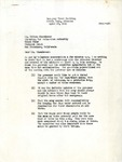 Letter, E.B. Whitaker, assistant regional director, to Mr. Milton Eisenhower, War Relocation Authority director