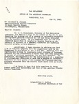 Letter, John J. McCloy, Assistant Secretary of War to Clarence Pickett, American Friends Service Committee