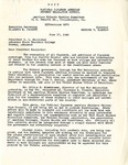 Letter, Robbins Barstow, director of Japanese American Student Relocation to Heber L. McAlister, Arkansas State Teachers College
