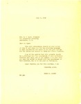 Letter, Governor Homer M. Adkins to Dillon S. Myer, Director of the War Relocation Authority