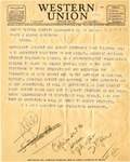Telegram, Dillon Myer, Director of War Relocation Authority to Governor Homer Adkins