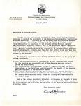 Memorandum, Ralph B. Jones, Arkansas State Commissioner of the Department of Education, to Governor Homer Adkins