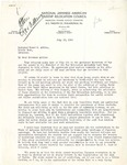 Letter, Robbins W. Barstow, director of National Japanese American Student Relocation to Governor Homer Adkins