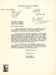 Letter, Elmer M. Rowalt to Governor Homer Adkins