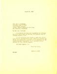 Letter, Governor Homer M. Adkins to Colonel Karl R. Bendetsen