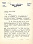 Letter from Oren Harris, M.C., U.S. House of Representatives, 4th District of Arkansas, to Homer M. Adkins, Governor of Arkansas