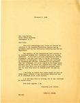 Letter, Governor Homer M. Adkins to Arkansas Representative Oren Harris