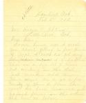 Letter, E.W. Moffatt to Governor Homer M. Adkins