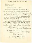 Letter, C. Luguet to Governor Homer M. Adkins