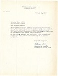 Letter, Roberta Clay, Legislative Chairman of the American Association of University Women to Governor Homer M. Adkins