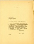 Letter, Governor Homer Adkins to C. Luguet