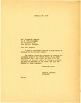 Letter, Levon V. Twyford to Army Private Winston M. Laughin