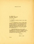 Letter, Governor Homer Adkins to Roberta Clay, Legislative Chairman of the  American Association of University Women