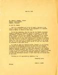 Letter, Governor Homer Adkins to Mr. Edward J. Meeman