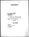 Memorandum, Ray D. Johnston to Dillon S. Myer
