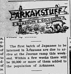 Dermott News article on the Arrival of Japanese Americans in Arkansas
