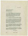 Letter, Dr. Joseph B. Hunter to Senator William Fulbright