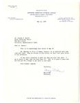 Letter, Mary Toda to Dr. Joseph B. Hunter