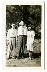 Group photograph of Joseph Boone Hunter and two unidentified people