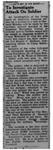 Newspaper article,