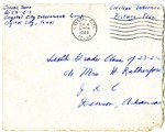 Correspondence to Hazel Retherford and the sixth grade class of 23-2 at Jerome Relocation Center from Taoru Ochiai