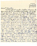 Letter, Susie Uyedo to Vanette