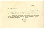 Official correspondence from the War Relocation Authority to Hazel Retherford