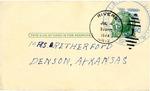 Postcard, Michiko S. to Hazel Retherford