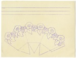 Line drawing for cutout of vase with flowers