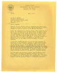 Letter, acting assistant director of the National Park Service to Mike Masaoka