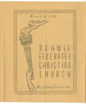 Rohwer Federated Christian Church program