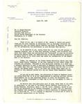 Letter, Dr. Joseph Hunter to A. Clark Stratton
