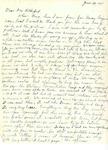 Letter to Hazel Retherford