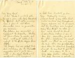WWI Letter from Samuel Ethridge to Nathalia Kauffman Ethridge, November 20th, 1917