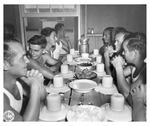 German Prisoners of War Camp at Camp Joseph T. Robinson, Arkansas in the mess hall.