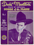 "Dude Martin's Folio of Original ""Songs of the Plains"""