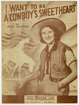 """Patsy Montana """"I Want to be a Cowboy's Sweetheart"""" sheet music cover"""