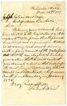 Letter, Stevadson Allen Hail to Joseph Cleaveland