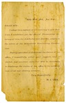 Political handbill, Robert J. Lea
