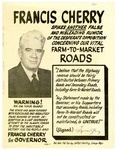 Campaign broadside, Francis Cherry