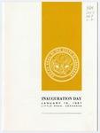 Program, Inauguration of Winthrop Rockefeller