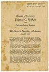 Message of Governor Thomas C. McRae