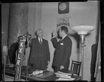 Sid McMath taking gubernatorial oath of office