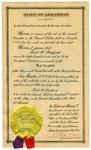 Senate election certificate, Fred Stafford