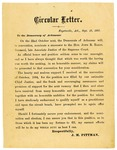 Campaign circular, J.M. Pittman