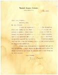 Letter, U.S. Senator Jeff Davis to Capt. W.M. Cooper